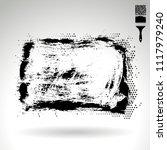 black brush stroke and texture. ... | Shutterstock .eps vector #1117979240