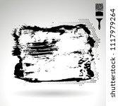 black brush stroke and texture. ... | Shutterstock .eps vector #1117979264