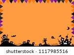 halloween night background | Shutterstock .eps vector #1117985516