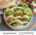 homemade asian vegetarian...   Shutterstock . vector #1117990478