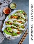 homemade asian vegetarian...   Shutterstock . vector #1117990484