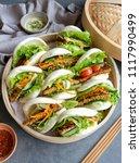 homemade asian vegetarian... | Shutterstock . vector #1117990499
