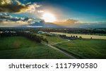 biogas plant and corn field... | Shutterstock . vector #1117990580