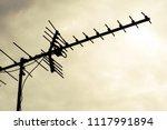 tv antenna  old television...   Shutterstock . vector #1117991894