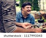 closeup of hispanic man with... | Shutterstock . vector #1117993343