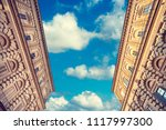 facades of an old buildings... | Shutterstock . vector #1117997300