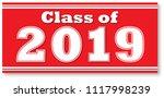 class of 2019 red banner | Shutterstock .eps vector #1117998239