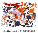 graffiti spray stains grunge... | Shutterstock .eps vector #1118003420