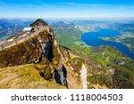 restaurant at the schafberg...   Shutterstock . vector #1118004503