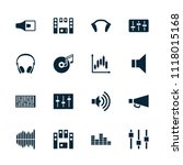 volume icon. collection of 16... | Shutterstock .eps vector #1118015168