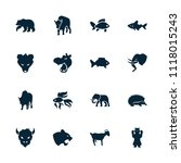 wild icon. collection of 16... | Shutterstock .eps vector #1118015243