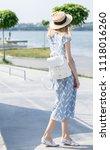 a beautiful  frail young girl... | Shutterstock . vector #1118016260