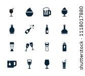 beverage icon. collection of 16 ... | Shutterstock .eps vector #1118017880