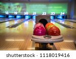 Small photo of The bowling alley was laid in a wooden lane in the bowling hall.