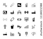 wireless icon. collection of 25 ...   Shutterstock .eps vector #1118021588