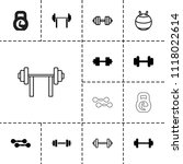 dumbbell icon. collection of 13 ... | Shutterstock .eps vector #1118022614