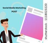 social media marketing post...   Shutterstock .eps vector #1118023220
