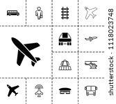 passenger icon. collection of... | Shutterstock .eps vector #1118023748