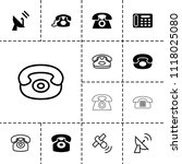receiver icon. collection of 13 ... | Shutterstock .eps vector #1118025080