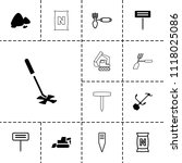 soil icon. collection of 13... | Shutterstock .eps vector #1118025086