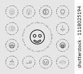 joy icon. collection of 13 joy... | Shutterstock .eps vector #1118025194