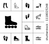 footwear icon. collection of 13 ... | Shutterstock .eps vector #1118025248