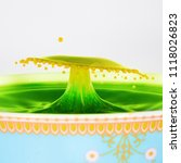 A Yellow And Green Water Drop...