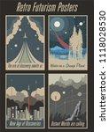 retro futurism vintage posters... | Shutterstock .eps vector #1118028530