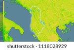 mean diurnal temperature... | Shutterstock . vector #1118028929