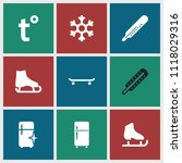 freeze icon. collection of 9... | Shutterstock .eps vector #1118029316