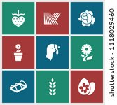 organic icon. collection of 9... | Shutterstock .eps vector #1118029460