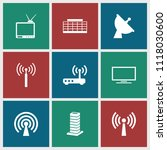 antenna icon. collection of 9...   Shutterstock .eps vector #1118030600