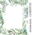 watercolor frame with various... | Shutterstock . vector #1118035733