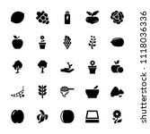 organic icon. collection of 25...   Shutterstock .eps vector #1118036336