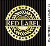 red label gold shiny badge | Shutterstock .eps vector #1118036498
