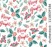 merry and bright lettering ...   Shutterstock .eps vector #1118039186