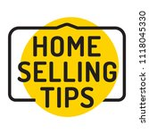home selling tips. badge icon.... | Shutterstock .eps vector #1118045330