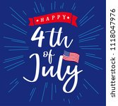4th of july  happy independence ... | Shutterstock .eps vector #1118047976