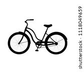 Bike Icon. Black Silhouette Of...
