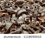 scrap car and machinery parts.... | Shutterstock . vector #1118050010