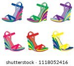 woman shoes isolated | Shutterstock .eps vector #1118052416