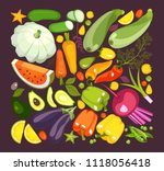 collection of ripe vegetables