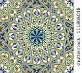 seamless pattern in moroccan... | Shutterstock .eps vector #111806018