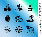 vector icon set about gardening ... | Shutterstock .eps vector #1118063990
