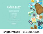 packing list  travel planning.... | Shutterstock .eps vector #1118064836