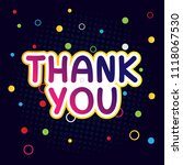 thank you lettering  thank you... | Shutterstock .eps vector #1118067530