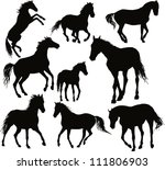 vector horse set | Shutterstock .eps vector #111806903