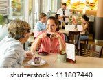 senior woman with her daughter... | Shutterstock . vector #111807440