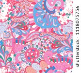 tracery seamless pattern.... | Shutterstock .eps vector #1118075756