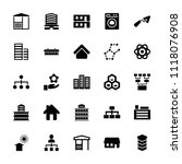 structure icon. collection of... | Shutterstock .eps vector #1118076908